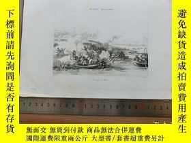 二手書博民逛書店【罕見】19世紀 銅 鋼版畫 單幅 PASSAGO DU RHI