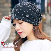 帽子女包頭堆堆月子防風帽透氣化療帽頭巾孕婦帽 全店88折特惠