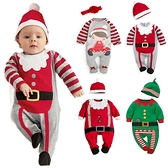 長袖連身衣 聖誕小精靈(含帽子) 包屁衣 W71065 AIB小舖