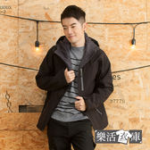 【W2755】型男機能軟殼戶外內刷毛連帽外套(黑色)● 樂活衣庫