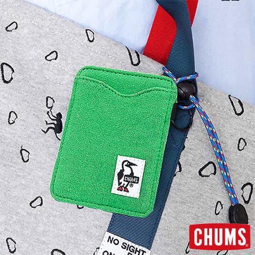 CHUMS 日本 Sweat 可扣式 雙層證件票卡夾 原野綠 CH600921M012