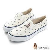 Hush Puppies 風和日麗咖啡紗中性懶人鞋-米白