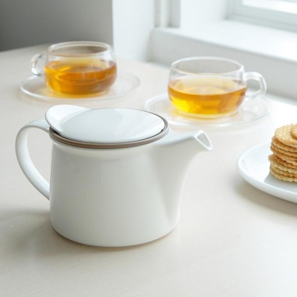 KINTO Brim 茶壺750ml(共二色) 下午茶 泡茶 品茗器具 全瓷 聚會休閒 好生活