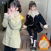 加絨棉服兒童夾克外套 風衣潮流女孩洋氣棉衣女童外套 羽絨外套秋冬棉襖 韓版外套中大童上衣