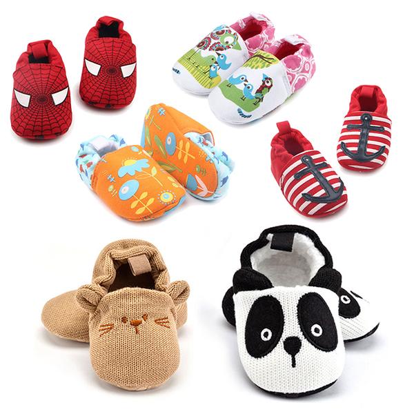寶寶鞋 學步鞋 卡通動物 軟底防滑嬰兒鞋 棉質童鞋 (11-13cm) MIY1517 好娃娃