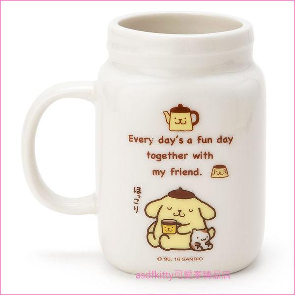 asdfkitty可愛家☆布丁狗罐型陶瓷馬克杯-也可當筆筒或花器-日本正版商品
