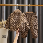 男童套裝秋裝新款兒童網紅秋季衣服春秋女寶寶洋氣運動套裝潮 【快速出貨】