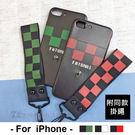 OPPO 方格軟殼 R9S/R9S+/R11  附短掛繩 防丟 棋盤格 格紋 保護殼