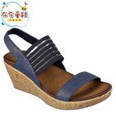 《布布童鞋》SKECHERS_CALI系列華麗藍色寬版女款楔型涼鞋(23~26公分) [ N9E527B ]