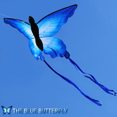 風箏-濰坊風箏 蝴蝶風箏 藍蝴蝶風箏  設計新穎漂亮 容易飛YYP 糖糖日繫