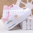 休閒鞋女 2020秋冬女學生小白鞋透氣休閑鞋小雛菊運動鞋8-9-13-15-18歲板鞋