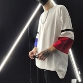 夏季新款2018港仔男士七分嘻哈短袖韓版潮流學生寬鬆t恤 YF168【男人與流行】