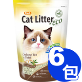 【寵物王國】CARL卡爾-環保豆腐貓砂(烏龍茶)6L x6包免運超值組