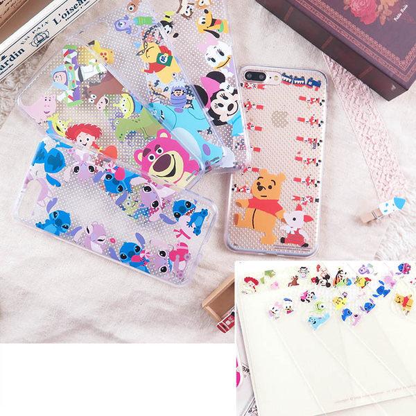 【Disney 】迪士尼iPhone 8 Plus /iPhone 7 Plus童趣家族款玻璃保護貼+彩繪保護軟套_5.5吋