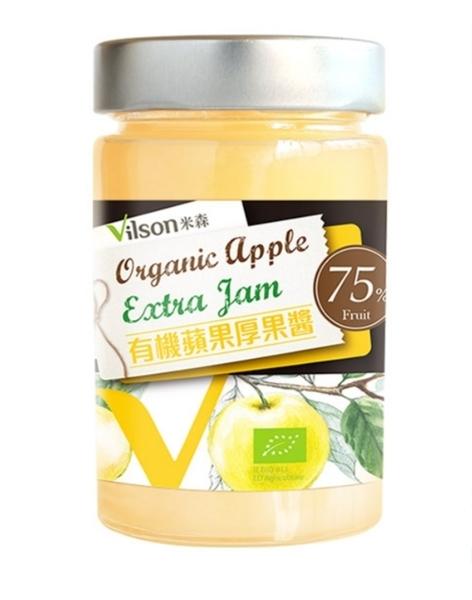 【米森 vilson】有機蘋果厚果醬(225g/罐)