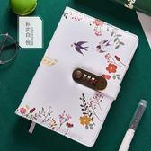 密碼本帶鎖筆記本日記本多功能萌物手賬本—聖誕交換禮物