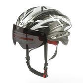 *阿亮單車* GVR 專業自行車安全帽 磁鐵跳躍系列(G203),附黑色鏡片,黑銀色《C77-197-B》