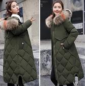 現貨綠M中長羽絨棉服保暖防風外套5806