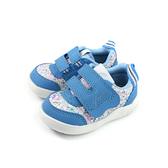IFME 休閒運動鞋 藍色 花卉 魔鬼氈 小童 童鞋 IF22-012302 no131 12~15cm