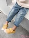 兒童牛仔褲2020春裝新款寶寶磨毛長褲男童寬鬆百搭褲子潮