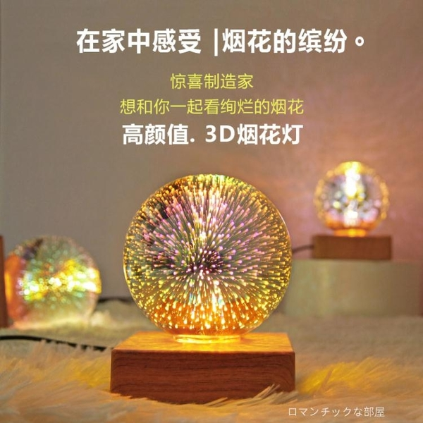 創意浪漫星空燈LED調情小夜燈臥室床頭USB插電睡眠氛圍燈生日禮物 「ATF夢幻小鎮」