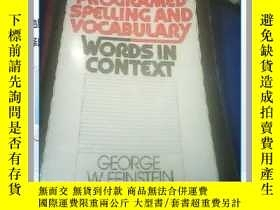 二手書博民逛書店PROGRAMED罕見SPELLING AND VOCABULARY WORDSIN CONTEXTY2171