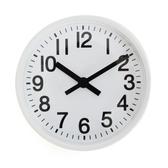 LOVEL 16cm雋永經典鋁框靜音桌鐘/壁掛時鐘-白(7361-WH)