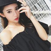 Taimi Style 新款鎖骨鍊女短款脖子飾品頸帶珍珠項鍊簡約項圈頸鍊  無糖工作室