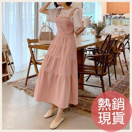 ✦Styleon✦正韓。氣質背心蛋糕裙吊帶洋裝。韓國連線。韓國空運。0501。現貨粉