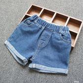 女童牛仔短褲純棉寬鬆休閒熱褲