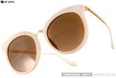 Go-Getter 水銀太陽眼鏡 太陽眼鏡 GS4006 C07 (米白-金) 韓版時尚大框款 # 金橘眼鏡