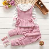 童裝女寶寶春秋洋氣套裝三件套女童裝1-2-3-4-5歲韓版嬰幼兒衣服 雙十一87折
