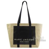 【新進品牌 獨家價】MARC JACOBS 馬克賈伯 經典LOGO帆布肩背大托特包.米