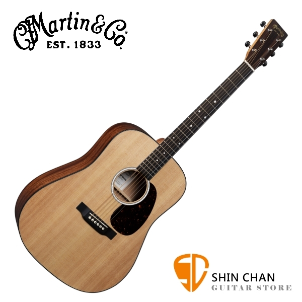 Martin D10E 全單板 可插電民謠吉他/電木吉他 附原廠輕體硬盒 原廠公司貨 【D-10E/DRS2升級版】