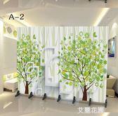 簡易屏風隔斷歐式簡約現代客廳小戶型中式折疊移動辦公室餐廳折屏QM『艾麗花園』