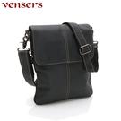 【vensers】小牛皮潮流個性包~斜肩背包(N320401深色)