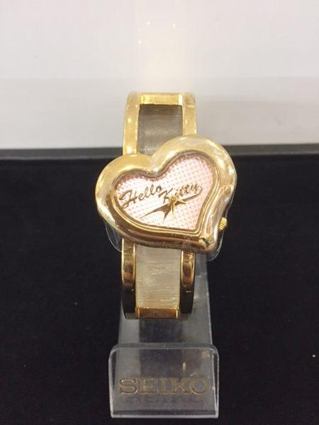 【震撼精品百貨】Hello Kitty 凱蒂貓-手錶-愛心錶面-金色【共1款】