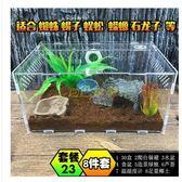 寵物飼養盒亞克力爬蟲箱蜘蛛蜥蜴守宮角蛙蛇蟒甲蟲302015爬寵盒 30*20*15  mks免運