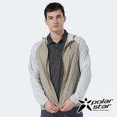 PolarStar 中性 休閒抗UV連帽外套『綠卡其』 P20107 戶外 露營 防曬 透氣 吸濕 排汗 彈性 抗紫外線