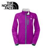 【The North Face 女 防潑風衣外套 紫紅 】CKP7/紫/紅/防潑/風衣/通風/口袋/反光/夜間/防潑