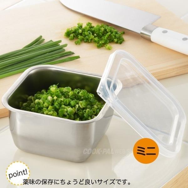 日本【吉川Yoshikawa】透明蓋不鏽鋼保鮮盒 迷你/520ml