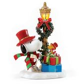 《Enesco精品雕塑》SNOOPY歌詠聖誕亮燈塑像-Season to be Jolly★funbox★_EN97132