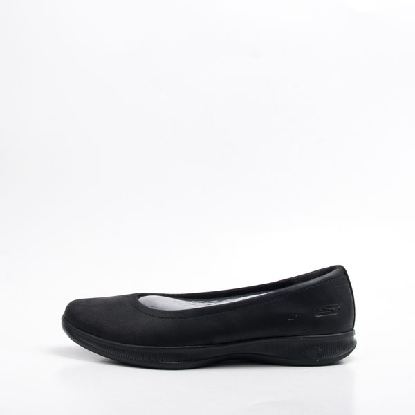 Skechers  (女) 健走系列 GO STEP LITE 女皮質健走鞋-黑 14736BBK