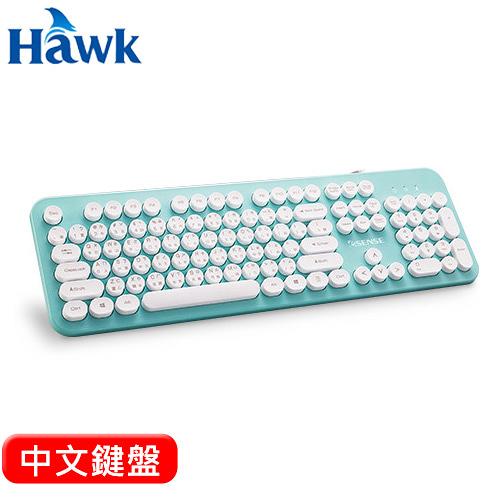 HAWK 逸盛 Esense 3700 復古圓形標準鍵盤 綠【原價 299 ▼現省$ 50】