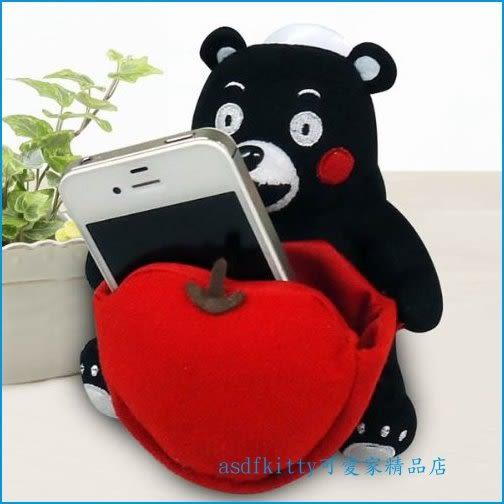 asdfkitty可愛家☆日本熊本熊 車用手機架/手機座-也可放小東西-日本正版商品