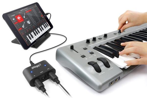 IK Multimedia iRig MIDI 2 通用型隨身 MIDI 介面轉接頭 (內附Lightning和USB介面線)