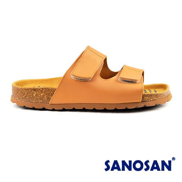 【Sanosan】sietelunas磁氣休閒魔鬼氈涼拖鞋/女鞋 淺棕色(S3309-CAM)