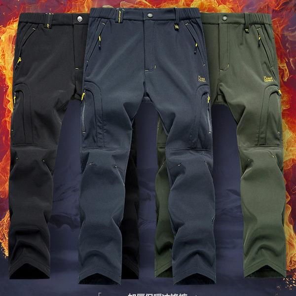 【加絨加厚】防水防風保暖衝鋒褲機能褲-9色 S-4XL_特價【CP16002】