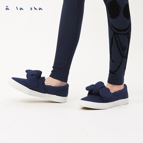 a la sha  Qummi 大蝴蝶結懶人鞋