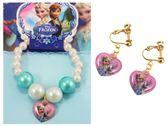 【卡漫城】 冰雪奇緣 韓版 兒童飾品 耳環 手環 二件組 雪寶㊣版 Frozen 艾莎 Elsa 愛心 Olaf